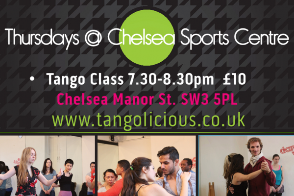 Don't Forget It's Thursday Tango Drop-In  @ Chelsea Sports Centre!