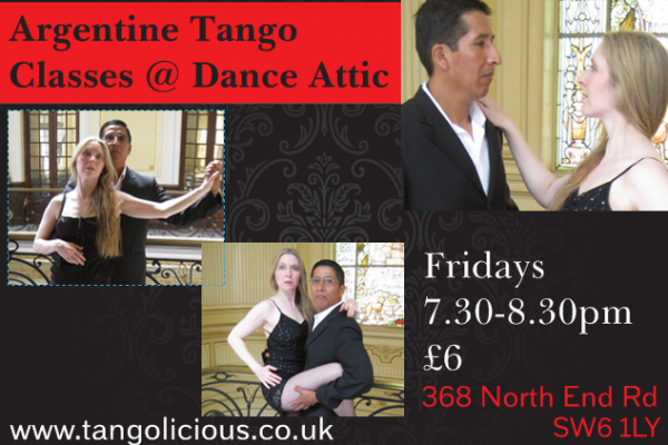 Tango Drop-In Class Every Friday at Dance Attic