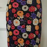 Roxanna Vincelli ruched knee length pencil skirt small