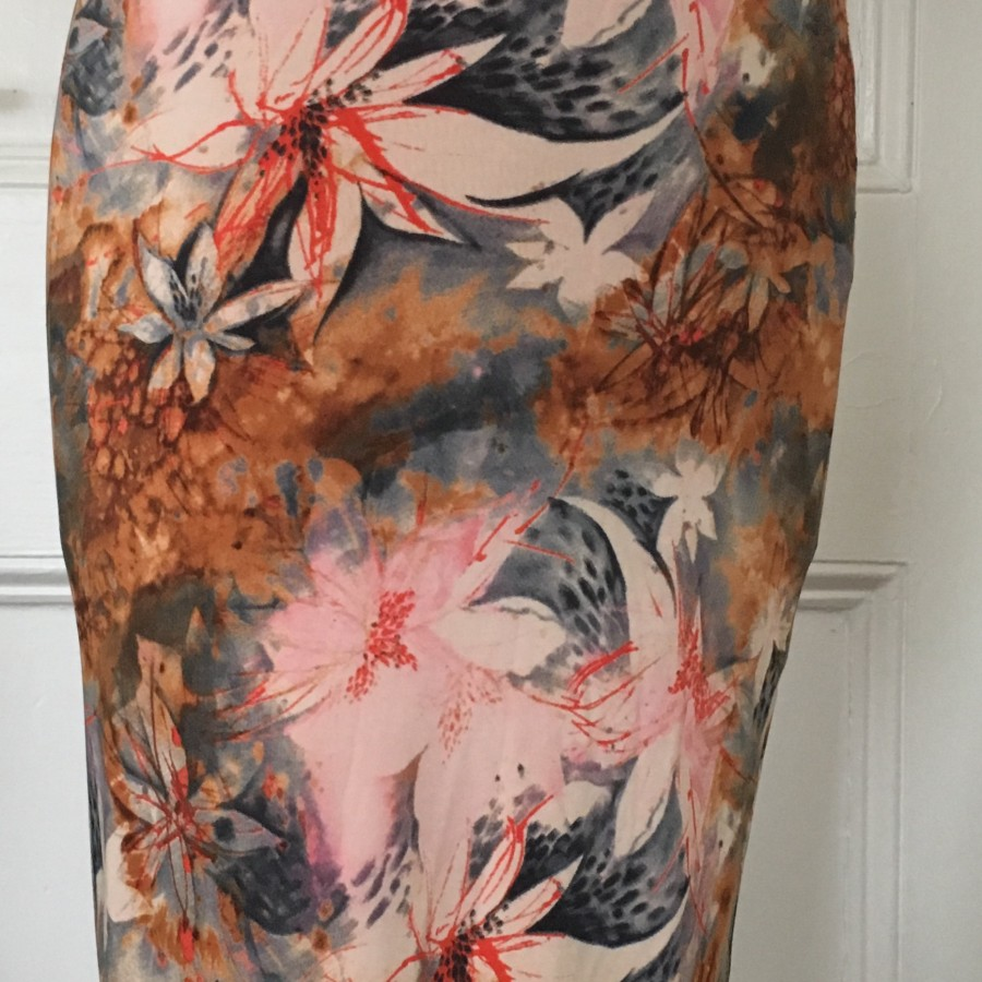 Roxanna Vincelli pencil skirt with ruched bottom