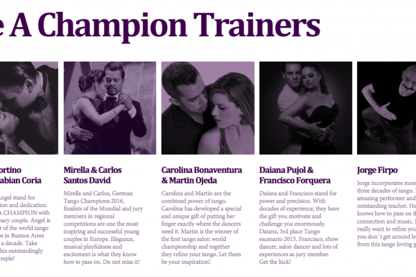 BE A CHAMPION – Intensive Seminars to prepare you for tango championships