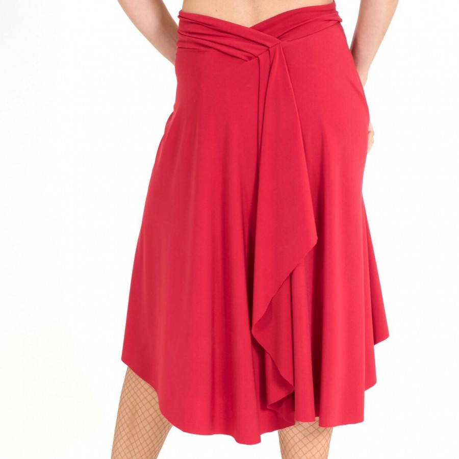 Draped back Tango skirt
