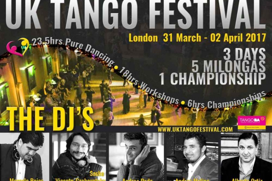 The DJ's for the UK Tango Festival 2017