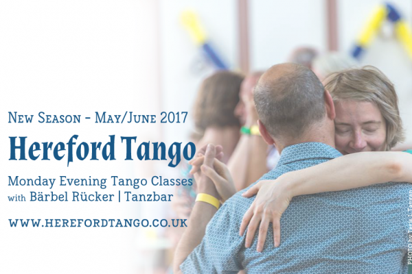 Monday Tango Classes in Hereford – 8th May 2017