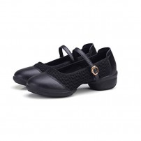 Black Leather Dance Practise Trainers