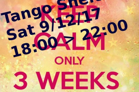 Tango Story: 3 weeks to go to Tango Shelter 2017