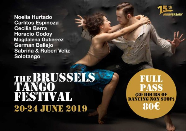 Registration is open for the renowned 3 day Brussels Tango Festival coming up in June 2019.