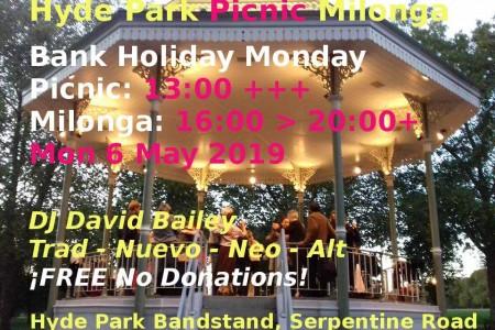 Tango Milonga Event: Hyde Park Picnic Milonga 6May19