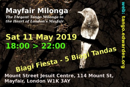 Tango Milonga Event: Mayfair Milonga 11May19