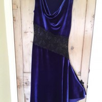 Dancewear For Sale: Diagonal dress in Blue Velvet