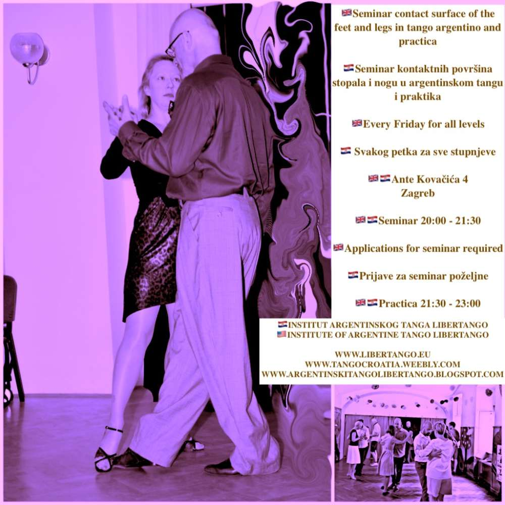 Seminar contact surface of the feet and legs in tango argentino and practica