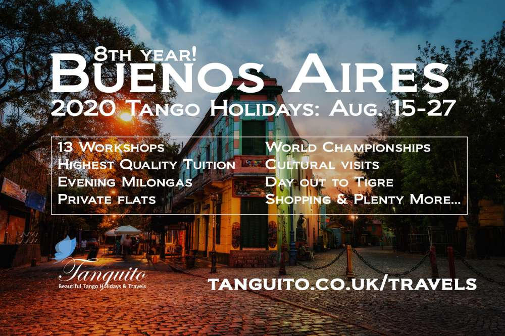 Argentine Tango Holiday: Tango and World Championship in Buenos Aires, Aug. 2020
