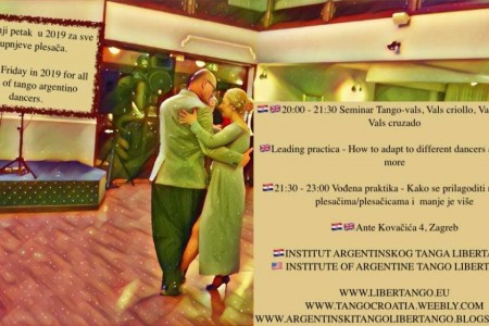 Tango Workshop Event: Seminar and practica tango argentino special edition
