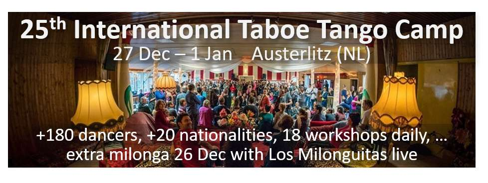 Argentine Tango Festival, Holiday, Workshop: 26th TABOE TANGO CAMP