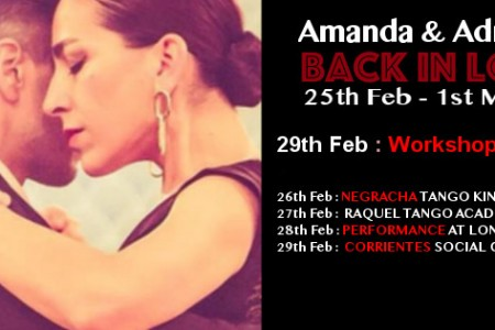 "Special Seminar ""Tango Urquiza Style"" with Amanda and Adrian Costa"
