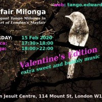 Tango Milonga Event: Mayfair Milonga 15Feb20