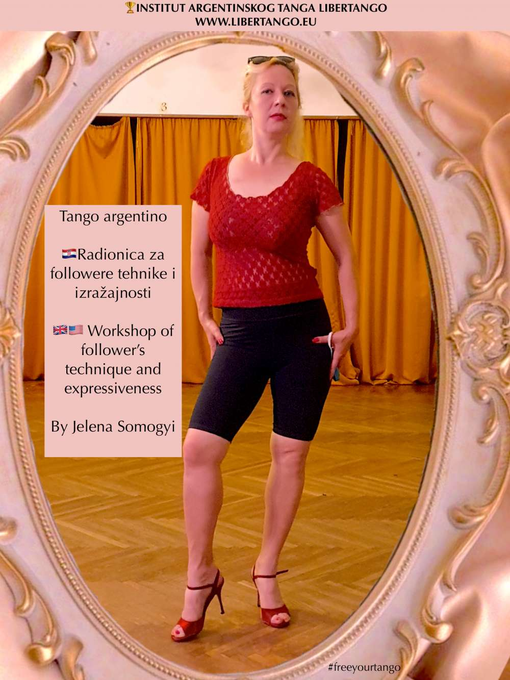 Argentine Tango Class, Workshop: For followers technique,expressiveness in hall and online
