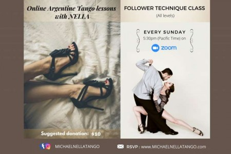 Tango Event: Followers technique class – Online Argentine Tango with Nella
